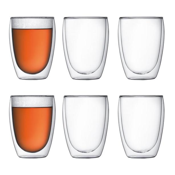 Verres Bodum Pavina à double paroi — Ensemble de 6 verres