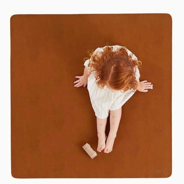 Mini Small Leather Mat, Ginger