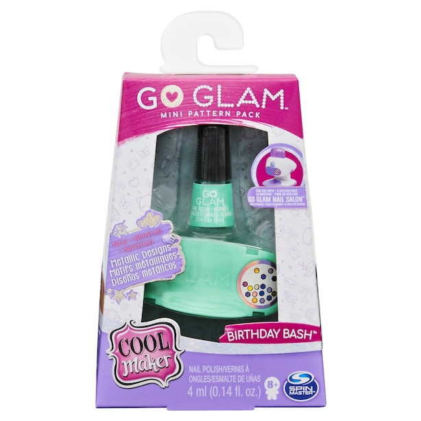 Cool Maker GO GLAM Nail Salon Birthday Bash Mini Metallic Pattern Pack Refill