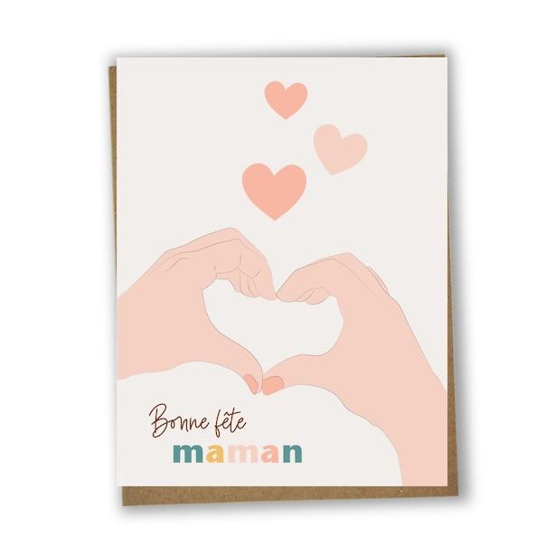 Carte unitaire Bonne fête Maman