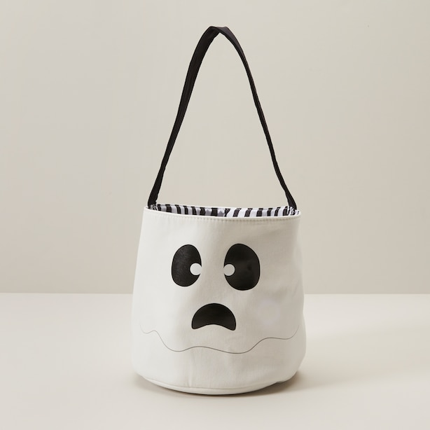 LIGHT UP HALLOWEEN TOTE, GHOST