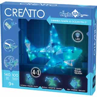 Thames & Kosmos Creatto: Shimmer Shark & Ocean Pals (DIY Light-Up Crafting Kit)