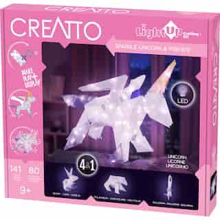 Thames & Kosmos Creatto: Sparkle Unicorn & Friends (DIY Light-Up Crafting Kit)