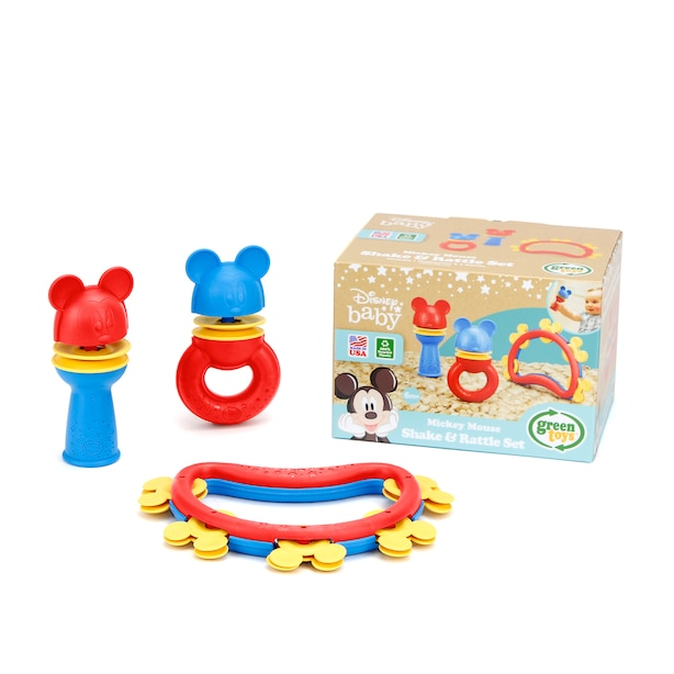 Ensemble secoueur et hochet Mickey Mouse