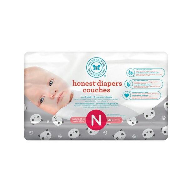 The Honest Company Diapers - Size Newborn - Pandas
