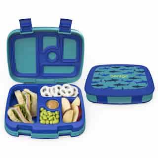 Bentgo Kids Durable & Leak-Proof Children's Lunch Box - Shark (Blue/Teal)
