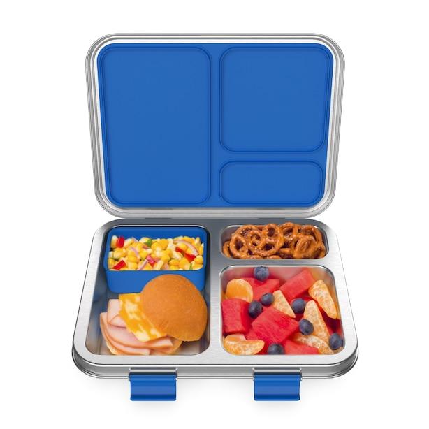 Bentgo Kids Stainless Steel Leak-Resistant Lunch Box - Blue