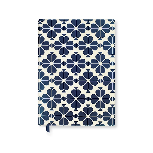 Daily To-Do Planner, Navy Spade Flower