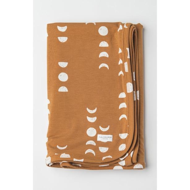 Loulou Lollipop Stretch Knit Blanket in TENCEL - Moon