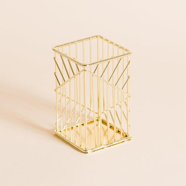 Vena Wire Pencil Cup Gold
