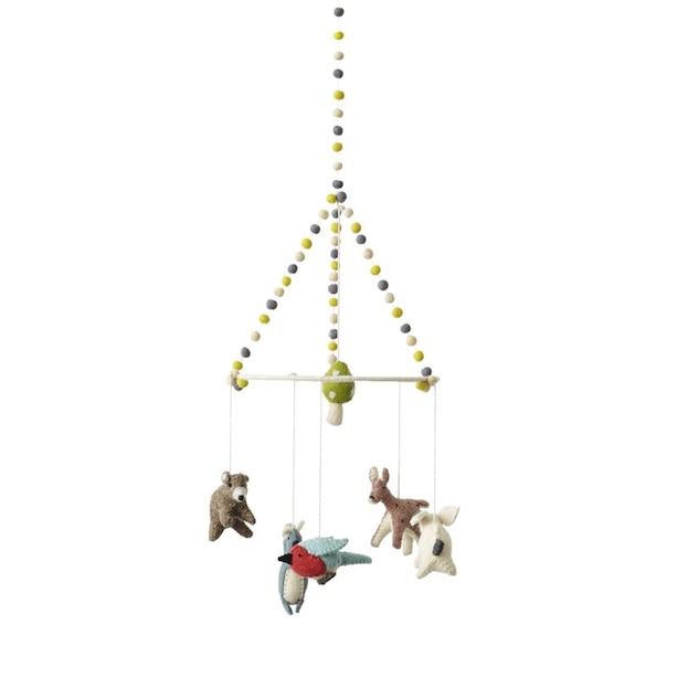 Pehr Hand Crafted Baby Mobile Woodland Creatures