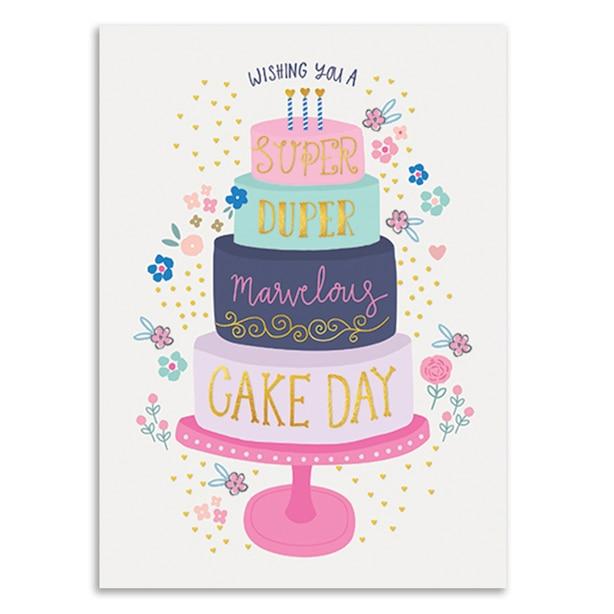 Birthday Card Tiered Cake