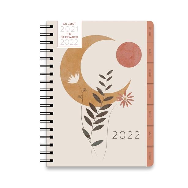 August 2021 - December 2022 Large Spiral Celestial Planner