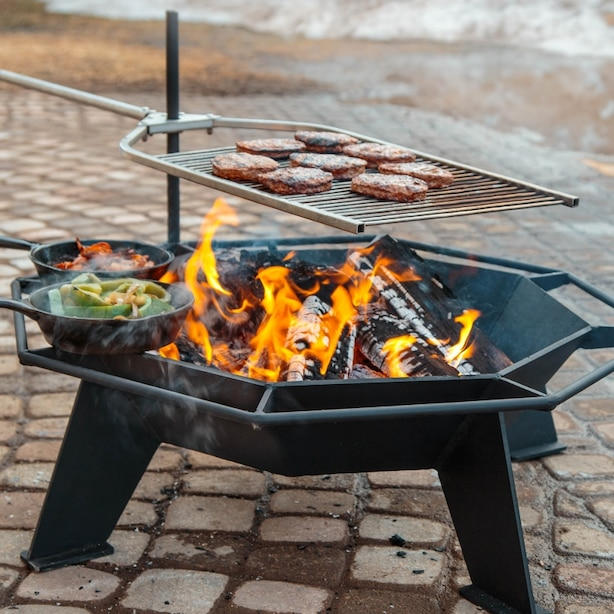 Iron Embers 2' Cottager Fire Pit & Stainless Grill