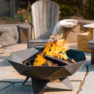 3' Polygon Bowl Fire Pit Decked Out Bundle