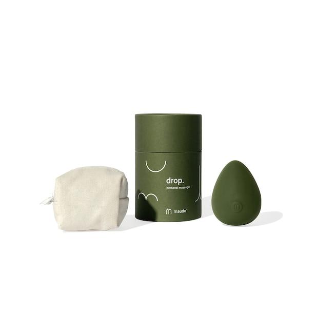Drop 3-speed personal massager, green