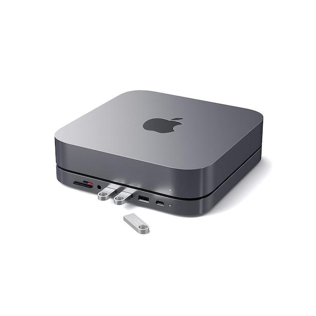 Satechi Aluminum Stand Hub for Mac Mini- Space Grey