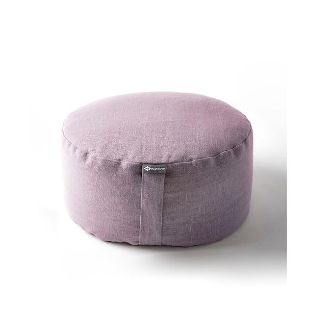 Mod Meditation Cushion, Fig Linen