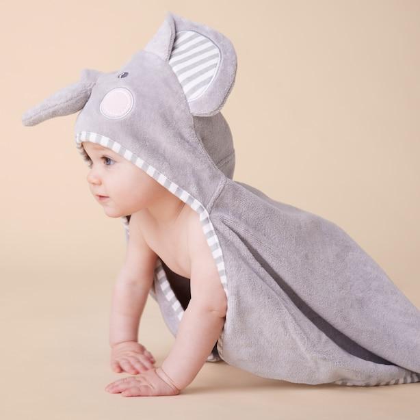 HOODED TOWEL, ELEPHANT BABY