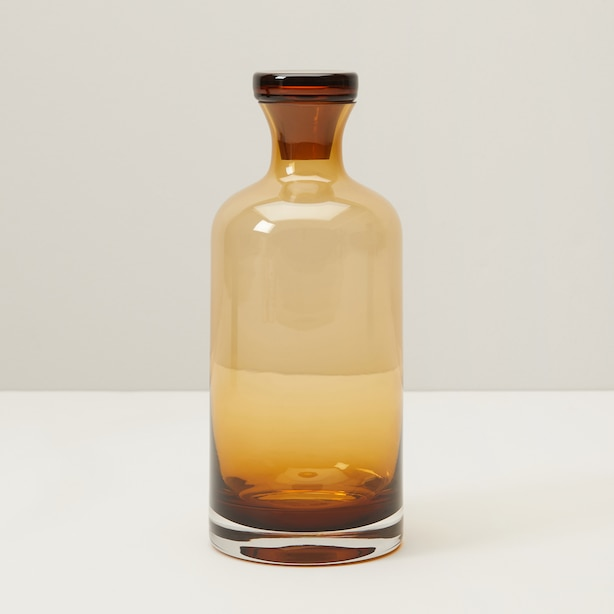 GLASS DECANTER, AMBER