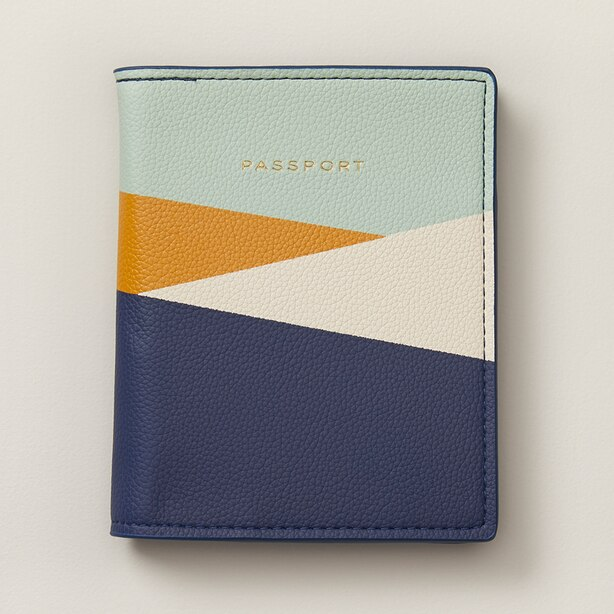 Passport Cover Colourblock, Navy Combo