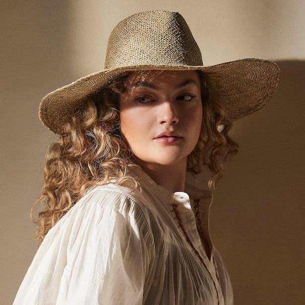 WOVEN PANAMA HAT, NATURAL