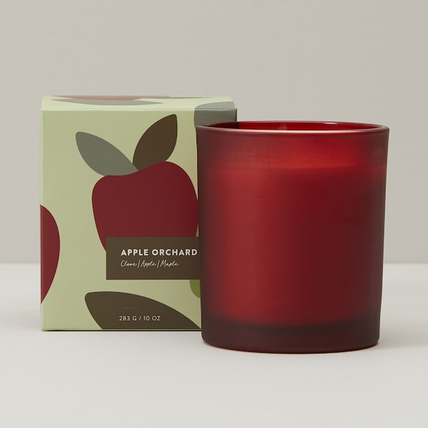 APPLE ORCHARD POURED GLASS CANDLE