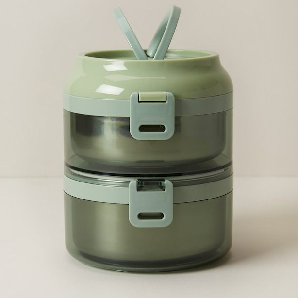 STAINLESS STEEL LUNCH BOX DUO, FERN