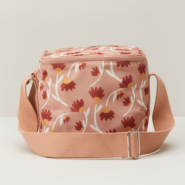 INSULATED LUNCH BAG, PINK FLORAL