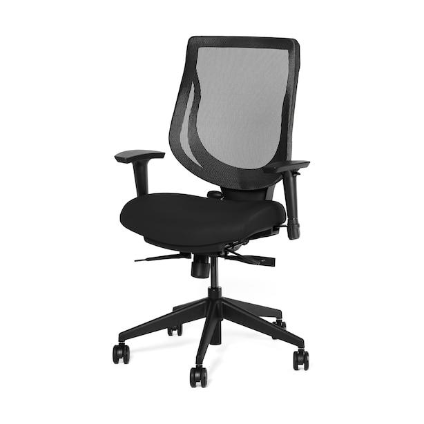 Ergonofis YouToo Ergonomic Chair Black Frame Black Leather