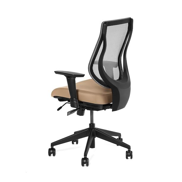 Ergonofis YouToo Ergonomic Chair Black Frame Honey Leather
