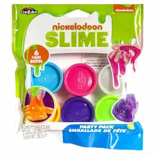 Nickelodeon Premade Slime 6 Colour Party Pack