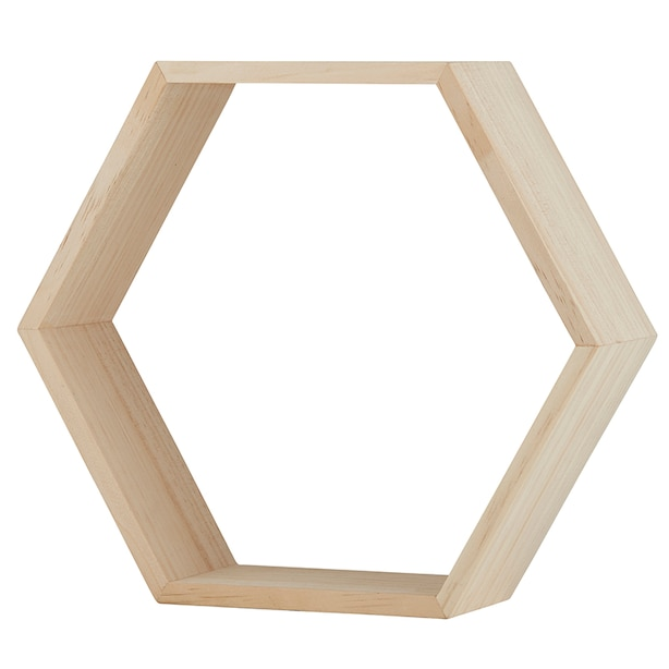 Stephan Baby-  Hexagon Wood Shelf