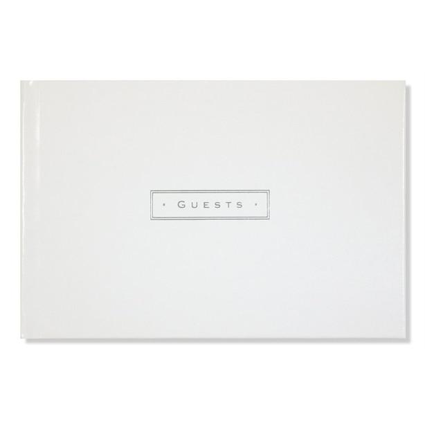 Livre d'invités en cuir – Blanc