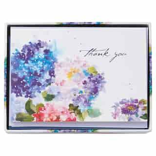Cartes de remerciement à motif d'hortensia